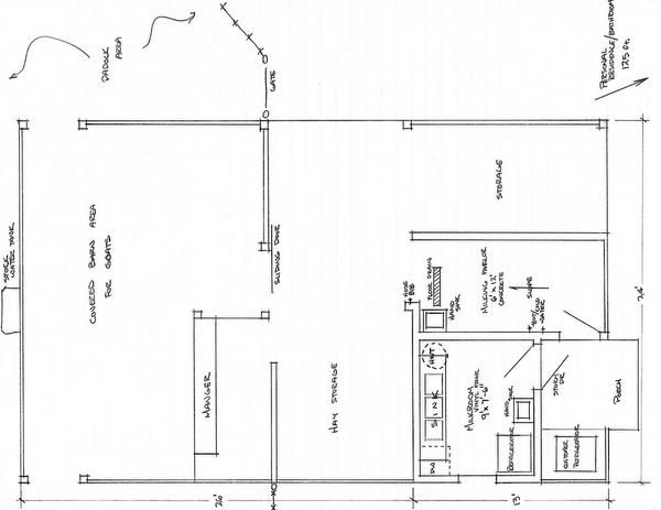 Nubian goat barn and dairy blueprint and photo diary of for Dairy barn plans