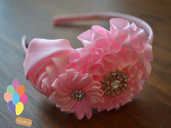Lovely Light Pink Flower Headband !