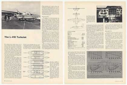 LET L-410 Turbolet Aircraft 2-Page Photo Article (1969)