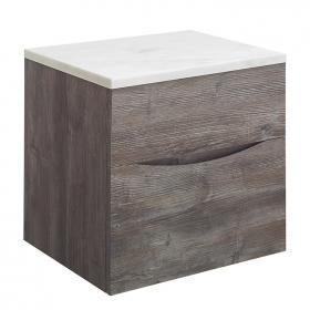 Bauhaus Glide II Driftwood 50 Unit and Carrara Marble Worktop