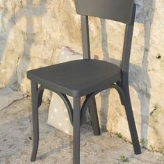 Chaise bistrot baumann 1954 noir mat
