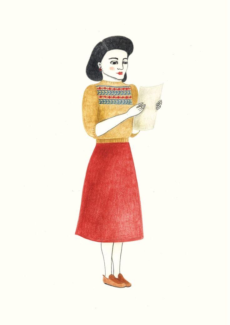 #allestudio #woman #vintage #mail #love