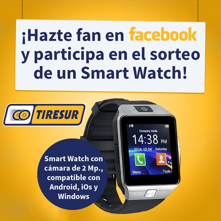 ¡Llévate este Smart Watch!