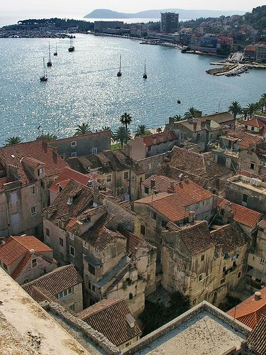 Split, Croatia, from the cathedral belltower (this town is supposed to be a must-see)