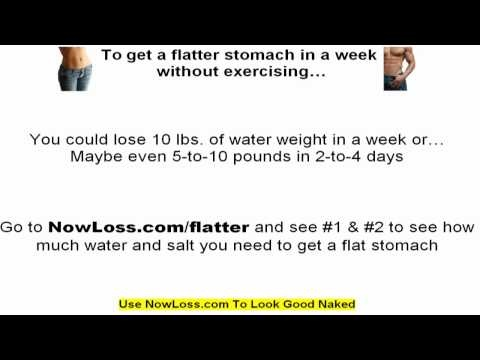 Get a flat stomach in a week without exercise ( seriously) IN 1 WEEK! - http://www.thehowto.info/get-a-flat-stomach-in-a-week-without-exercise-seriously-in-1-week/