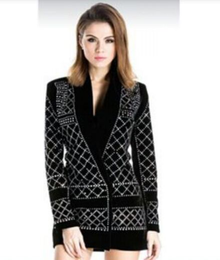 2016 Runway Luxury New Fashion Women Black Blazer with Handmade Pearls Beaded Gorgeous Embellished Slim Coat with single button US $109.00-155.0 Specifics Gender	Women Item Type	Blazers Decoration	Beading Clothing Length	Regular Pattern Type	Solid Closure Type	Single Button Hooded	No Material	Polyester Collar	Notched Sleeve Length	Full Model Number	vogain35233 Brand Name	None Fabric Type	Broadcloth  Click to Buy :http://goo.gl/t9O329