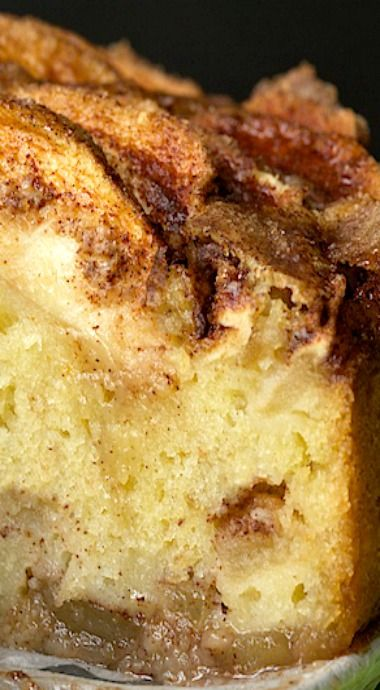 Danish Apple Cake Recipe ~ A tender yellow cake with a delicious cinnamon apple topping, that's also scattered all through the cake