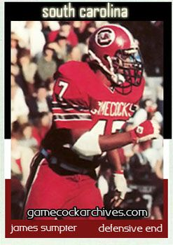 South Carolina Gamecocks DE 57 James Sumpter 1981 1984