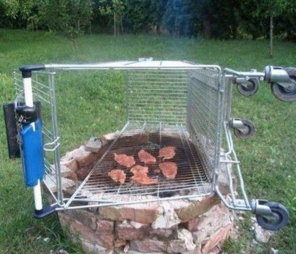 Redneck  BBQ. Wow there are no words except must be a person from Walmart pictures