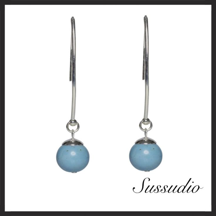 Magnesite and sterling silver earrings.