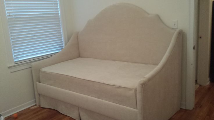 DIY Upholstered Daybed! Step by step tutorial of how to build and upholster this daybed! From: A House Becomes a Home