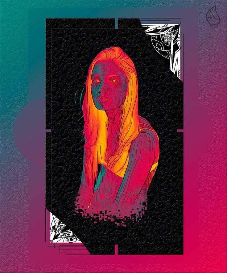Illustration Digital   serie: vaso frágil   serie: Fragile glass  ...... consciencia, universo difuso complejo e inexplorado, mezcla de emociones encontradas.