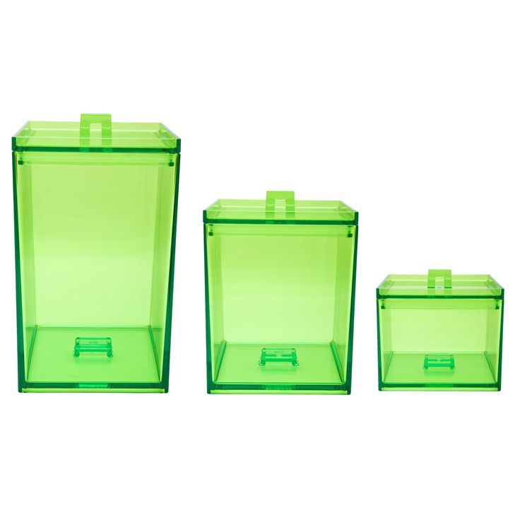 Meeme 3-Piece Stackable Kitchen Canister Set in Kiwi by Zak! Designs www.zak.com