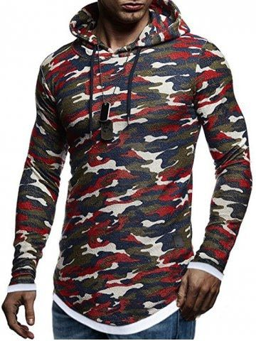 ca430f94a Contract Color Pullover Hoodie - RED WINE - 2XL | Menswear in 2019 ...