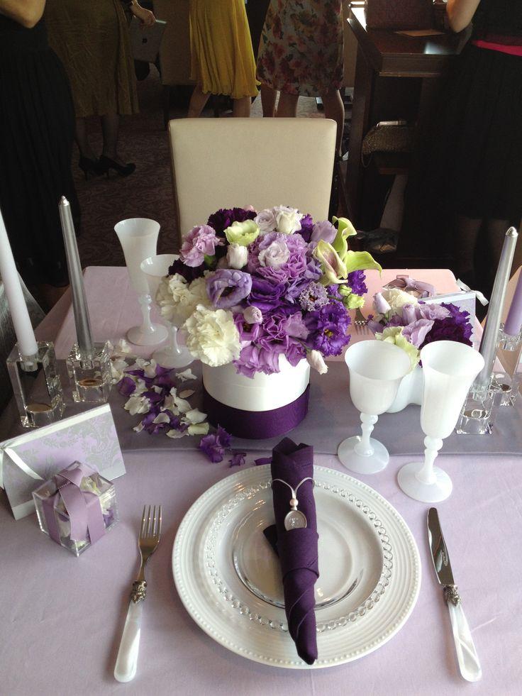 テーマカラー:紫、シルバー、白 *コーディネートポイント…カラーは3色に絞ること。