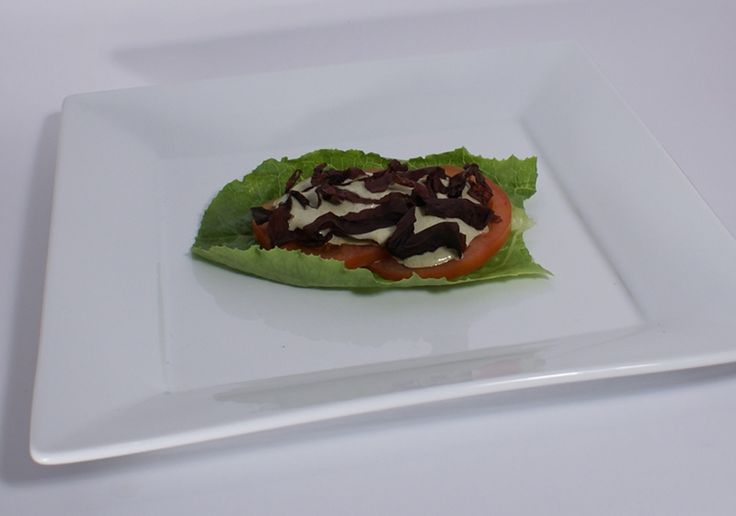 Raw bacon lettuce tomato sandwich #rawfood #rawfoodrecipes