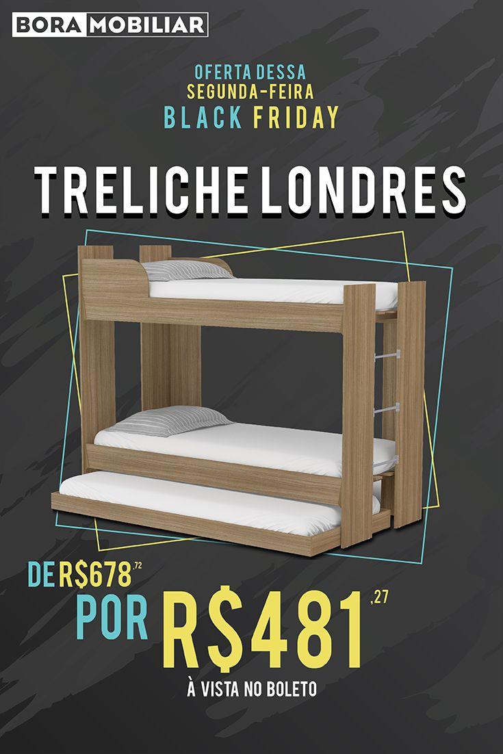 BLACK FRIDAY 🖤 São ofertas para a semana TODA. Hoje tem Treliche, ou seja, 3 camas pelo preço de uma. 😱 em duas cores: Branco e Castanho. Oferta válida até dia 26/11 ou enquanto durarem os estoques.