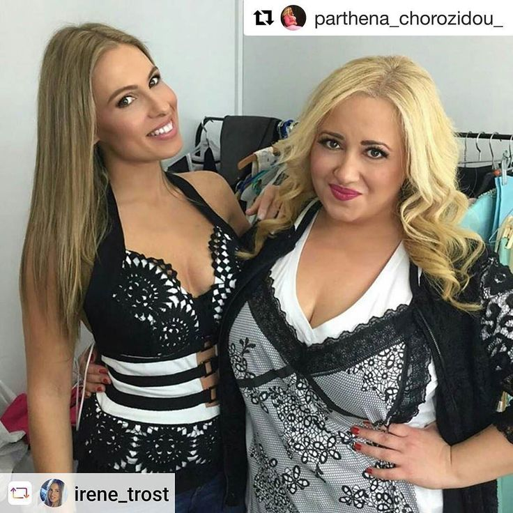 #Repost @parthena_chorozidou_ ・・・ Με @irene_trost στα backstage του @yfsf_ant1 !! Έρχονται ωραία πράγματα!! 😋😋 #staytuned #somethinggoodiscoming #backstage #yfsf_ant1 #ant1 #matfashion #wears_mat