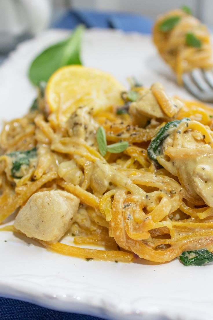 Jun 30, 2020 – You'll fall in love with this dairy-free Alfredo option! Perfectly seasoned butternut squash noodles saut…