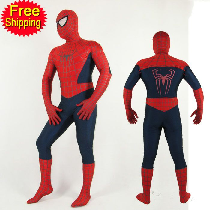 ==> [Free Shipping] Buy Best (SN818) Unisex Adult Kids Full Body Navy Blue Lycra Spandex Superhero Spiderman Zentai Suits Halloween Costume Online with LOWEST Price | 32725504448