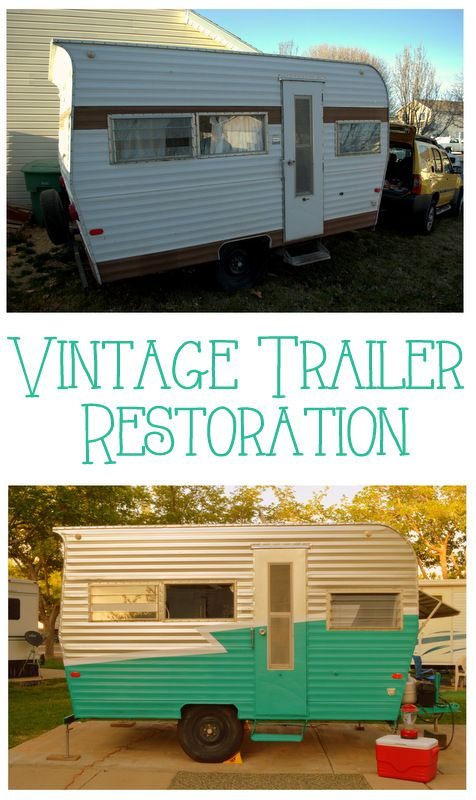 How To Paint A Vintage Trailer. A travel camper has always been