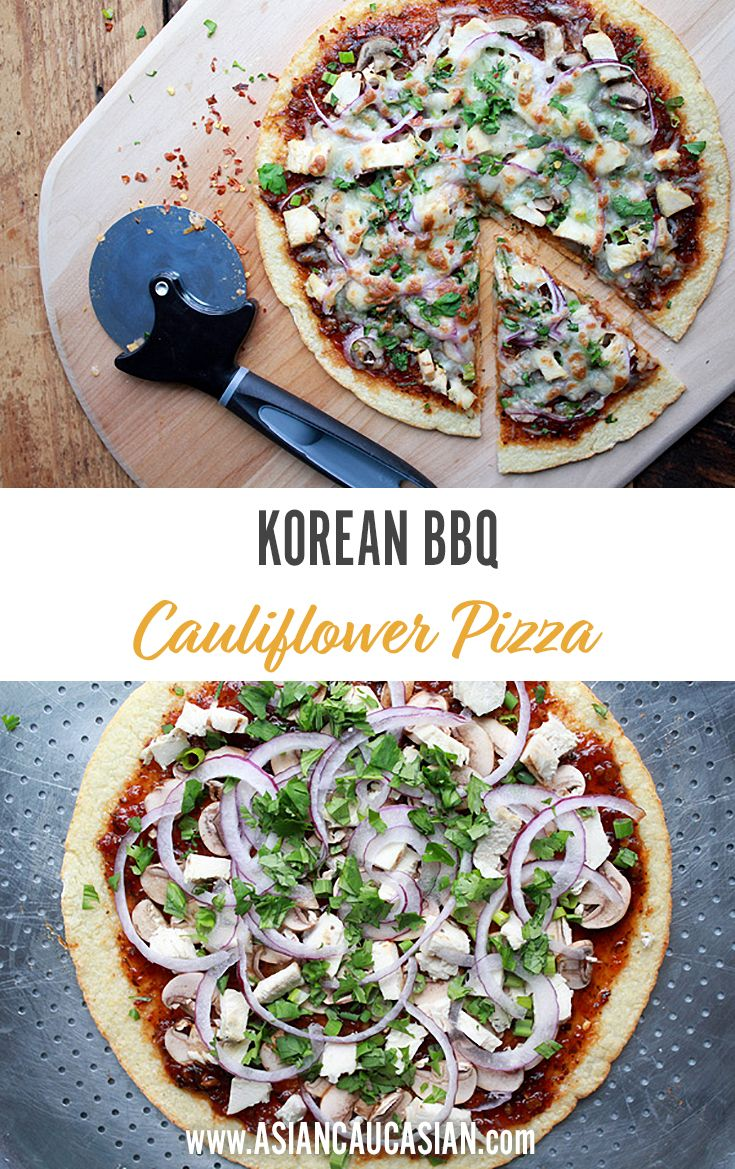Korean BBQ Cauliflower Pizza
