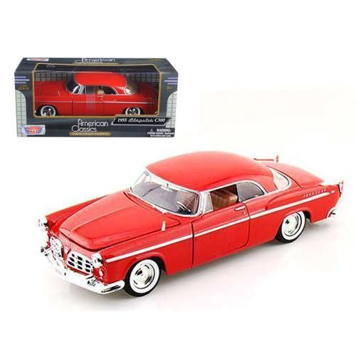 1955 Chrysler C300 Red 1/24 Diecast Model Car by Motormax