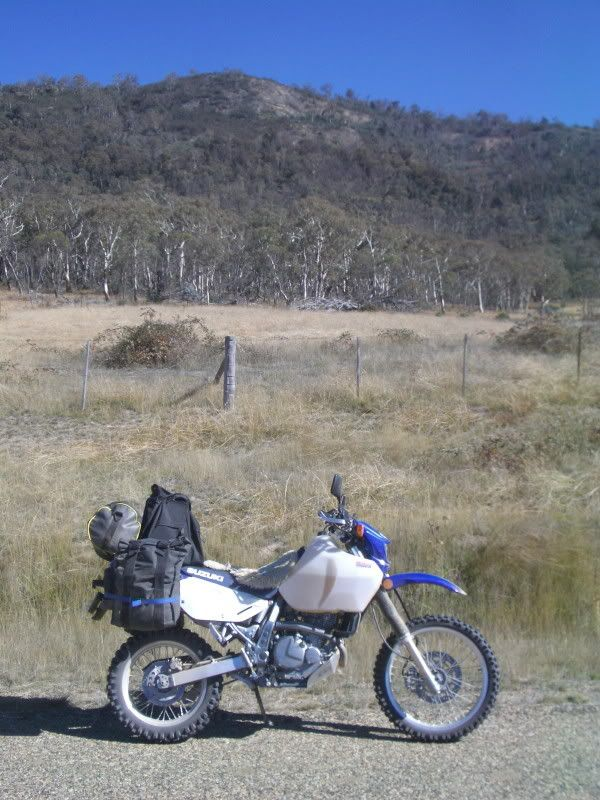 Safari Tank and DR 650 Suzuki fully loaded for adventure