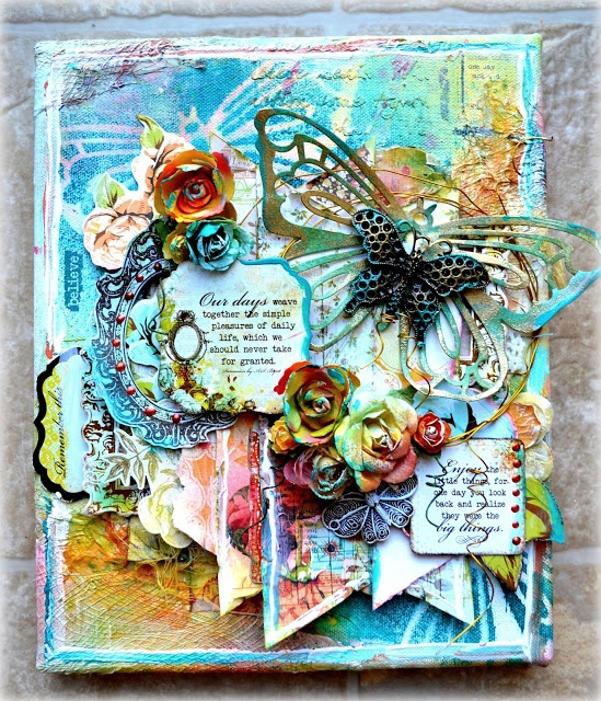 how to use photos in mixed media painting on canvas