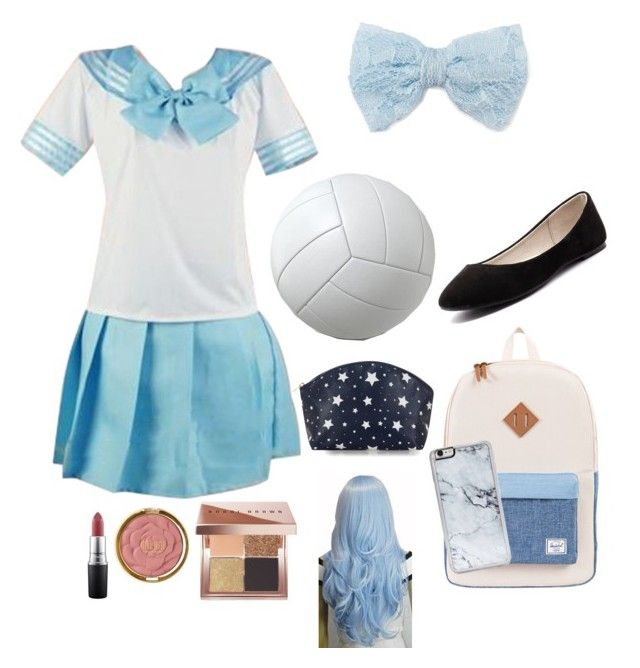 """""""Katelyn's (Aphmau PDH) outfit"""" by brileeg3 on Polyvore featuring Decree, Verali, Herschel Supply Co., Zero Gravity, MAC Cosmetics, Milani and Bobbi Brown Cosmetics"""