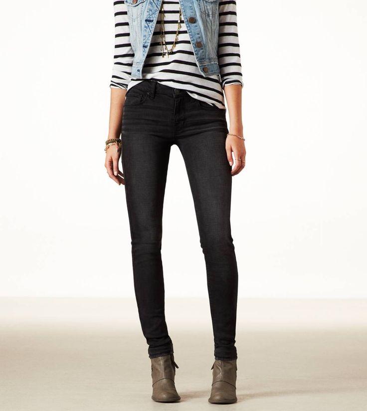 High rise skinny jeans ae