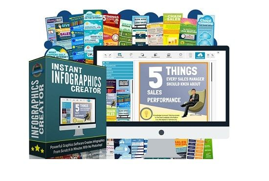 Instant Infographics Creator – what is it? Instant Infographics Creator is a full-blown online infographics creator which is incredibly fast and easy to use. Perfect for your own marketing or as a fully charged offline client marketing service.