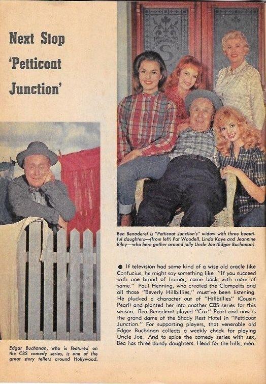 Richard Boone Petticoat Junction 8*4*1963 TV guide Bob Crane Nancy Kulp Combat