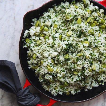 Persian Dill Rice, Baghali Polo, vegan // inmybowl.com