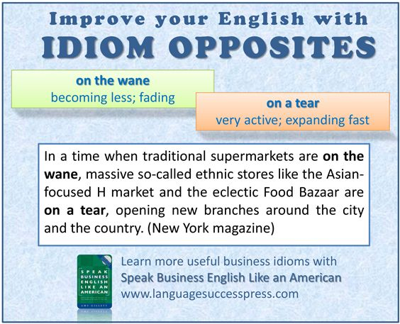 Here's a pair of English idioms useful for business and everyday life - on the wane / on a tear!
