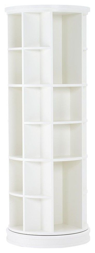 revolving bookcase I'd use it in my closet for shoes, handbags etc.