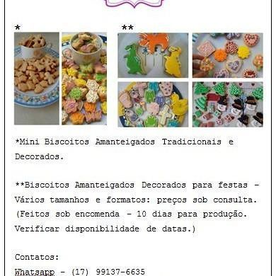 Biscoitos amanteigados tradicionais e decorados. (Encomendas - 10 dias para produção) São José do Rio Preto/SP Contatos pelo whatsapp: (17) 99137-6635
