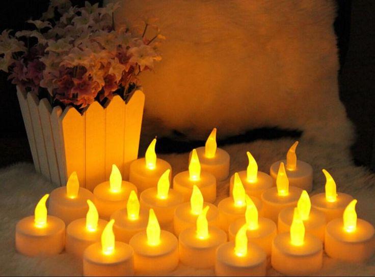 Управляемая Батарея Мерцание Свечи Беспламенном Led Свечки Чай Света Свадьба День