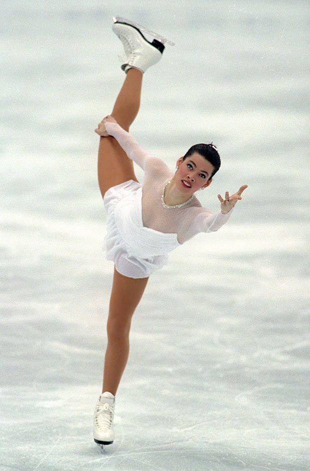 Nancy Kerrigan -White Figure Skating / Ice Skating dress inspiration for Sk8 Gr8 Designs.