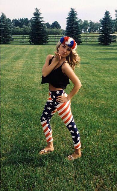 American Flag Print Leggings - Summer Fashion