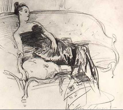 """The development of the portrait of Madame Pierre Gautreau, or """"Madame X"""" by John Singer Sargent. Wonderful to see the thought process."""