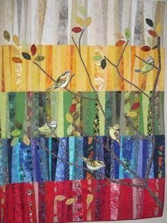 What a great way to use up scraps. I can use my bird panels or bird fabric and fussy cut. Love this!!!!