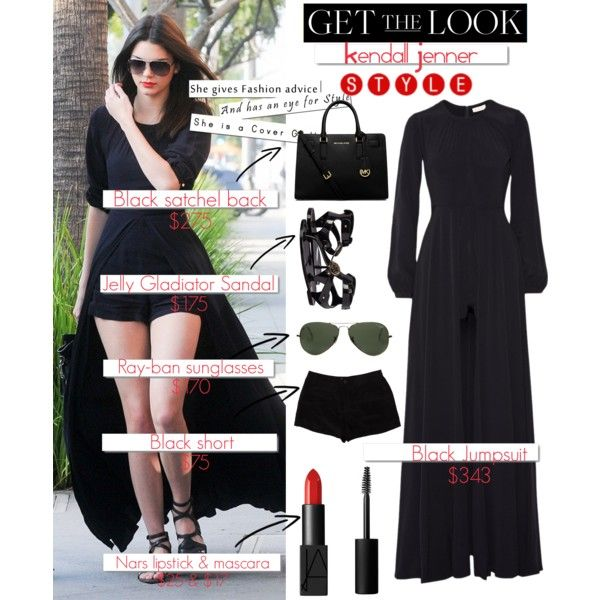 My First Polyvore Outfit by mutiaranhlz on Polyvore featuring sass & bide, T By Alexander Wang, Versace, Michael Kors, Ray-Ban, NARS Cosmetics and White Label