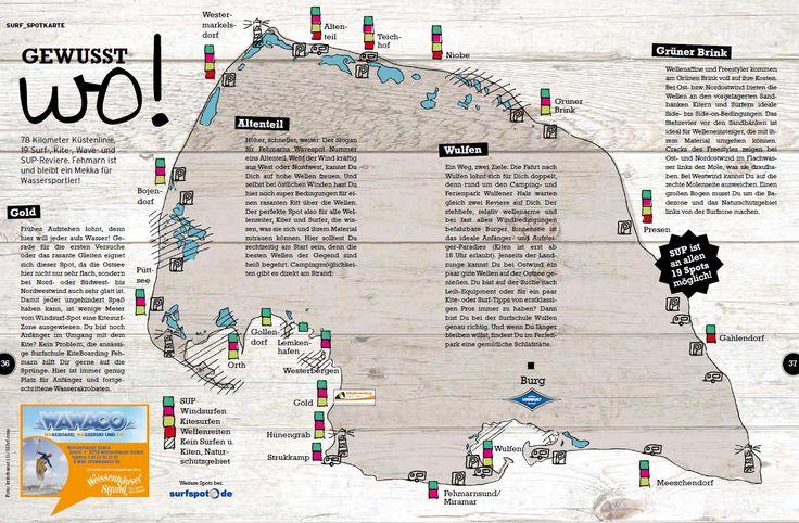 Windsurfen, Kitesurfen, Wellenreiten und Standup Paddeln an Fehmarns besten…