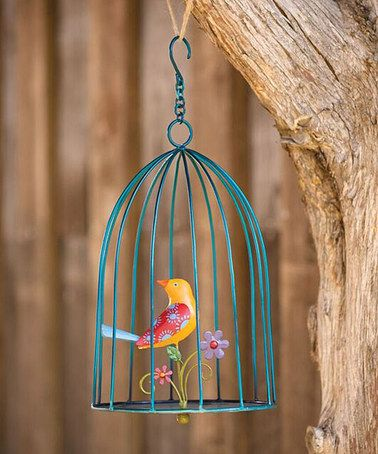 Love this Hanging Metal Bird Cage Décor on #zulily! #zulilyfinds