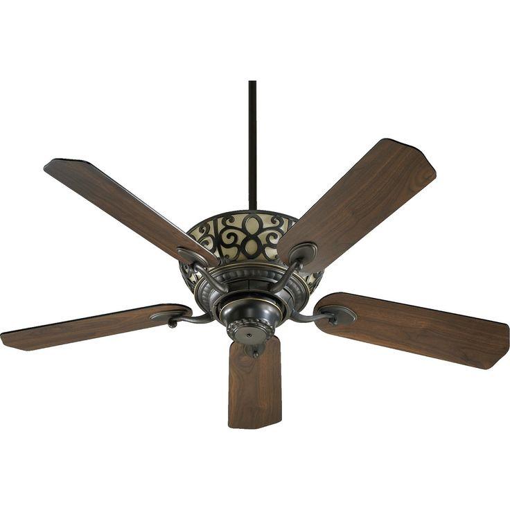 International Cimarron 52 Transitional Ceiling Fan with Integraded Uplight Light Kit (old world bronze/walnut blades/old world bronze)