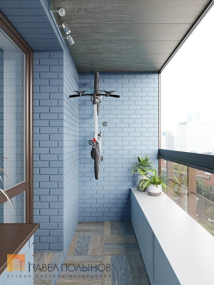 Фото: Интерьер лоджии - Интерьер квартиры в современном стиле, ЖК «Солнечный»