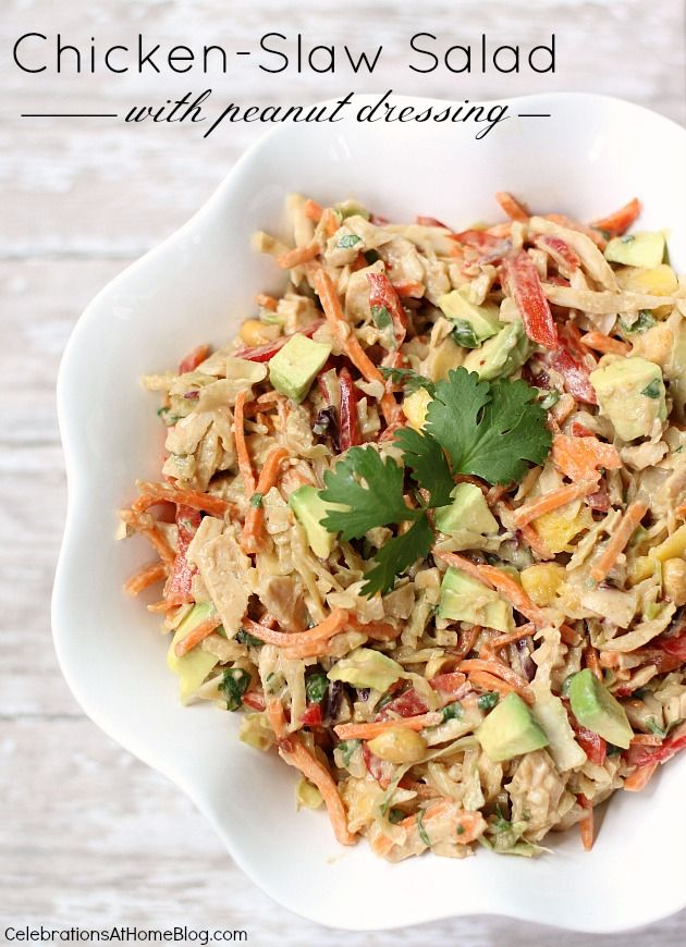 CHICKEN-SLAW SALAD WITH PEANUT DRESSING: Chicken Salad