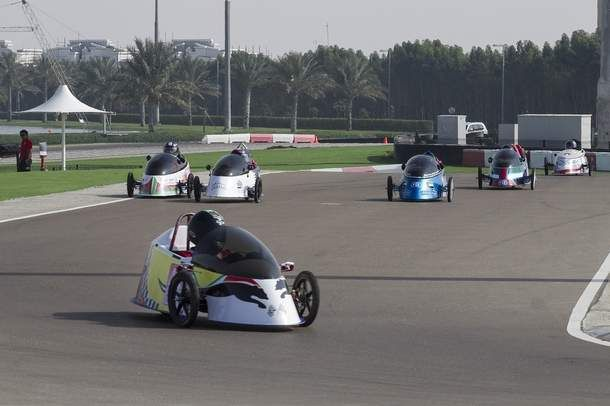 As many as 120 students in 11 teams took part in the Taqa GCC Hybrid-Electric Challenge last week.  #Race #HybridCars #UAE #Taqa