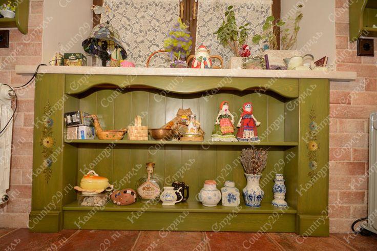 Decoration. Natural wood, solid pine. Kitchen. Декорирование. Натуральное дерево, массив сосны. Кухня.